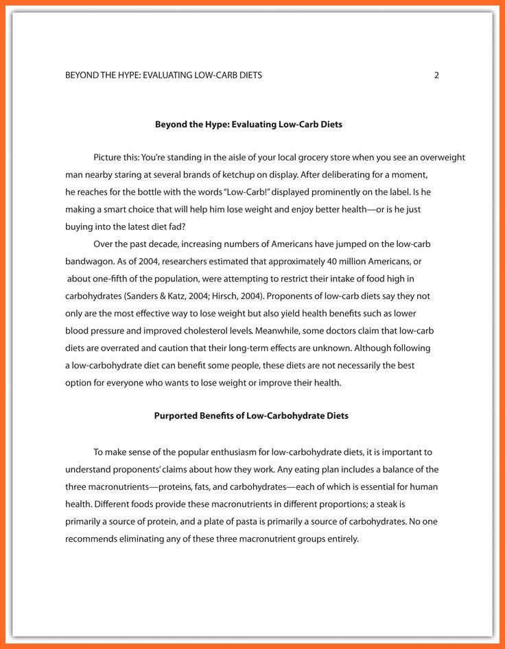 apa format essay sample