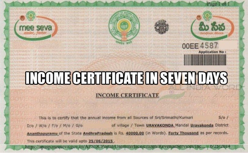 How To Apply & Get Income Certificate in 7 Days - All India Word