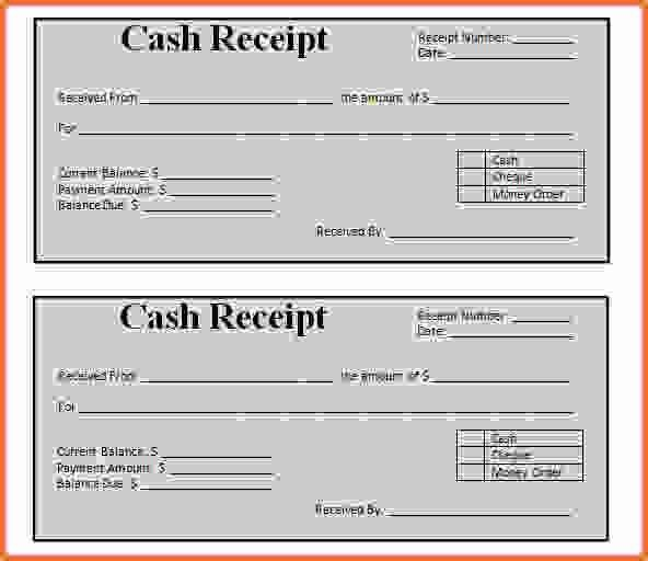 8+ blank receipt template - Sales Report Template