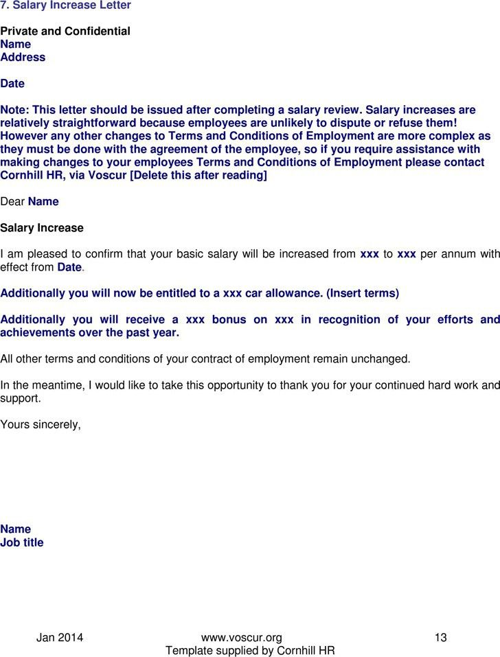 Stunning Salary Increase Request Letter Template Ideas - Best ...