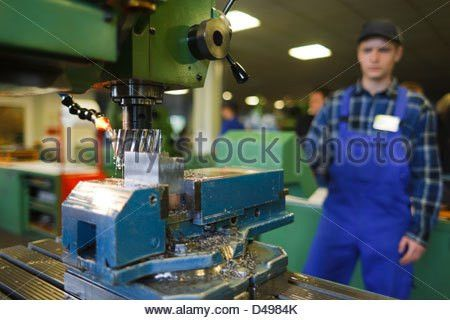 Berlin, Germany, industrial mechanic apprentice training center in ...