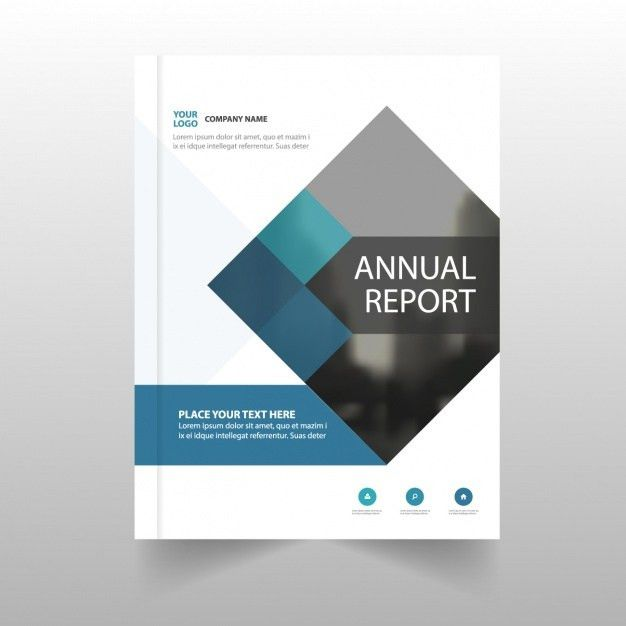 Annual report template for business Vector | Free Download
