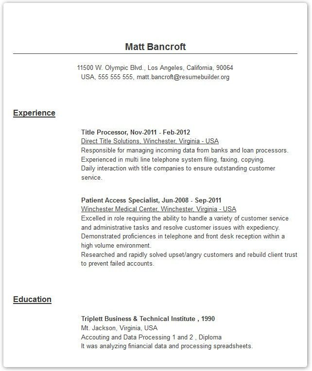 Download Copies Of Resumes | haadyaooverbayresort.com