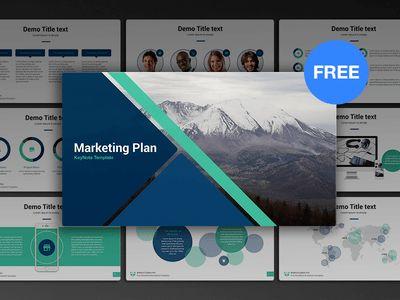 Free Keynote template: Marketing Plan by hislide.io - Dribbble