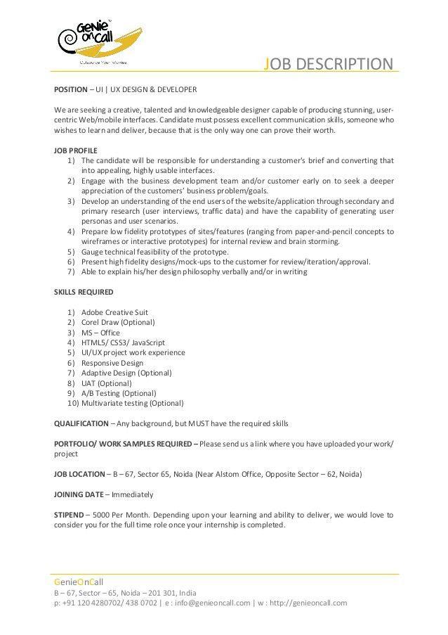 Intern Job Description. Marketing Office Intern Job Description ...