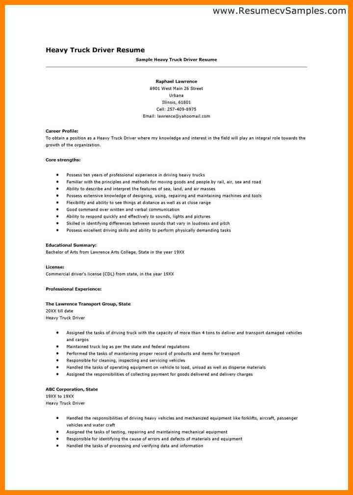 4+ truck driver skills resume | resume emails