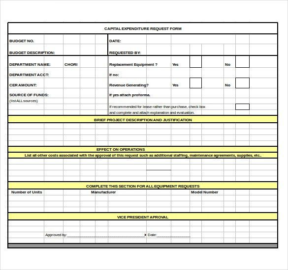 9+ Capital Expenditure Budget Templates – Free Sample, Example ...