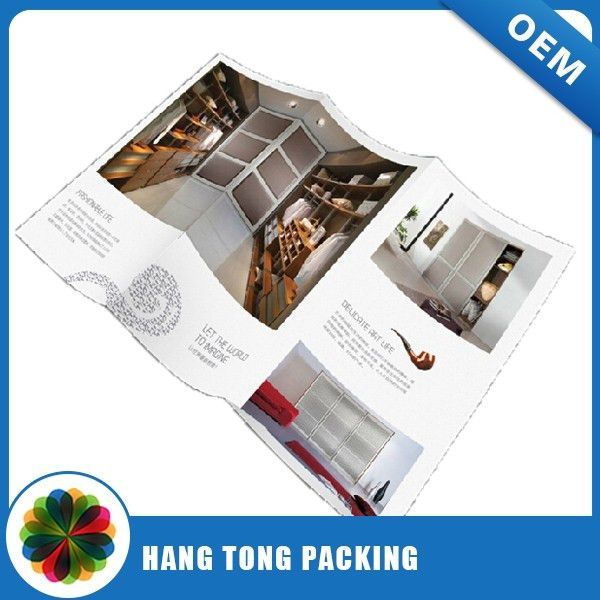 Professional Paper Fold Flyer Printing Custom Saddle Stitch Small ...