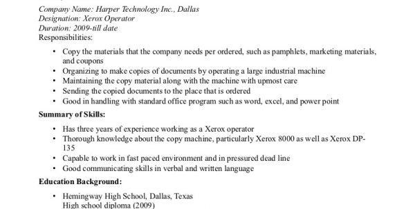 Machine Operator Jobs Machine Operator Resume Operator Resume ...