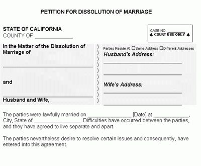 6 divorce papers ca | Divorce Document