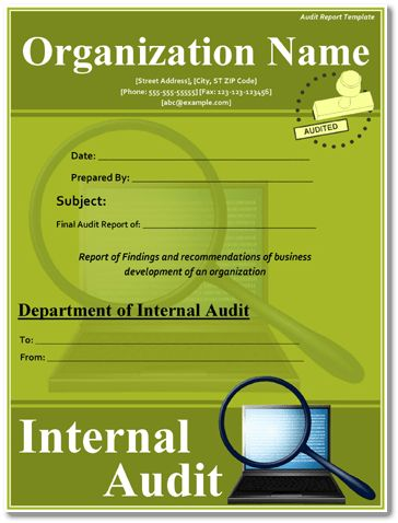 Audit Report Examples – Download Free Sample & Templates for PDF, Word