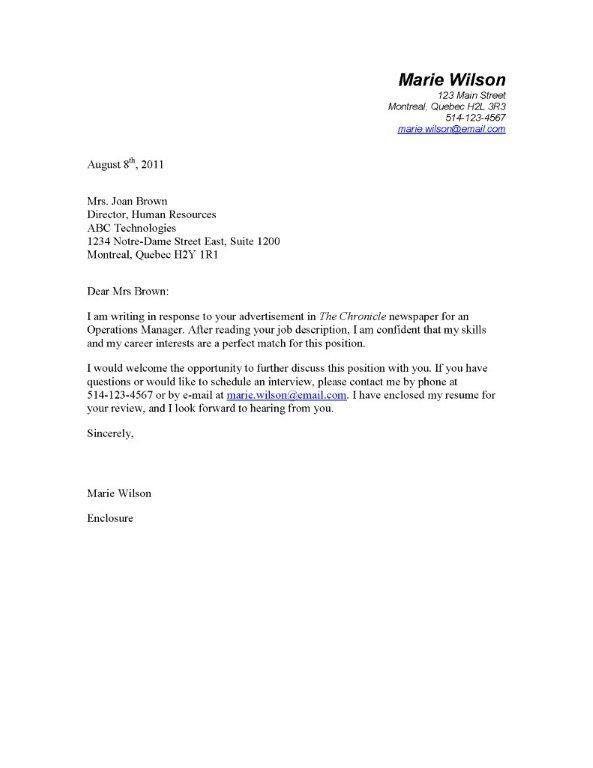 Portfolio Cover Letter Example - Best Letter Sample