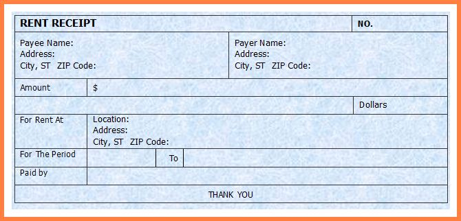 9 rent receipt template word - Sales Report Template
