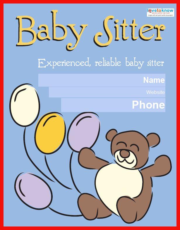 babysitting template free | apa example