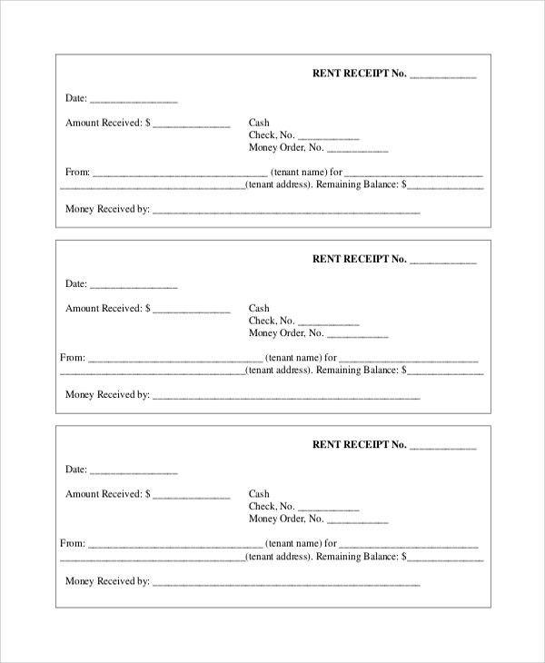 Rent Receipt Form. Rental Reciepts Hra Rent Receipt Format House ...