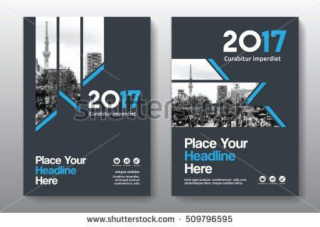 City Background Business Book Cover Design Stock Vector 718002346 ...