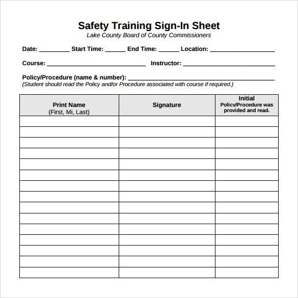 Sign In Sheet Template. Sign In Sheet Date Attendee Name Company ...
