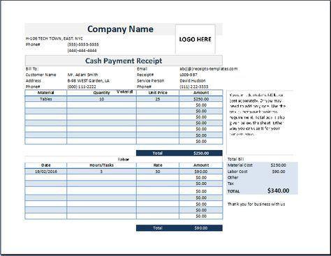 cash payment receipt template at www.receipts-templates.com ...