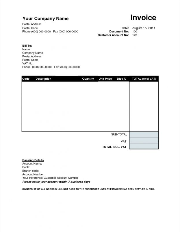 Tax Invoice Template Word Doc Microsoft Office Templates Tickets ...