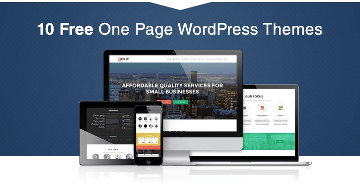 30+ Best Free One Page WordPress Themes in 2017