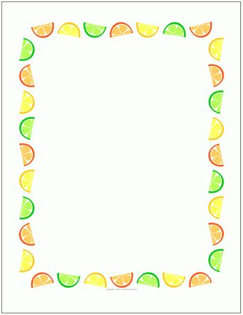 Printable Stationery Sheets, Letter Papers with Borders
