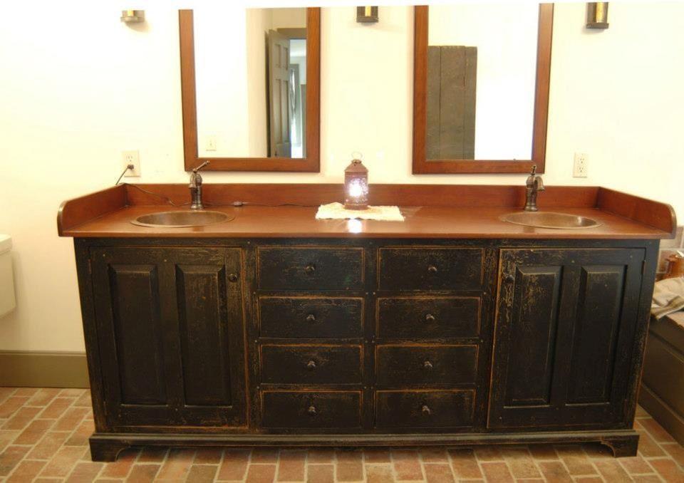 Primitive Country Bathrooms Bathroom Vanities And Bathroom Vintage On Pinterest