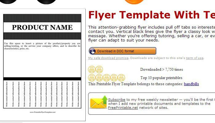 Free Printable Flyer Templates Word | Samples.csat.co
