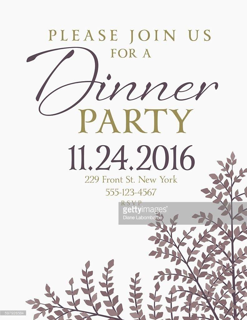 Elegant Fall Dinner Party Invitation Template Vector Art | Getty ...