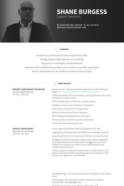 Maintenance Technician Resume samples - VisualCV resume samples ...