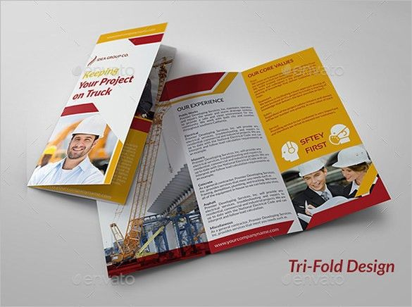 15+ Top Construction Company Brochure Templates | Free & Premium ...