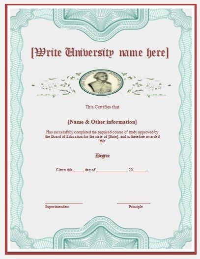 9 Best Images of University Degree Certificate Template - Fake ...