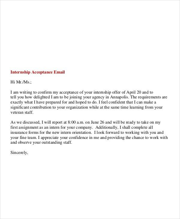 Internship Inquiry Email 6 Internship Email Examples Samples My