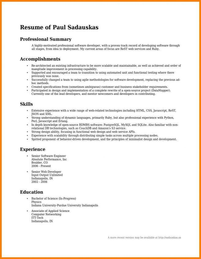 Download Good Summary For A Resume | haadyaooverbayresort.com