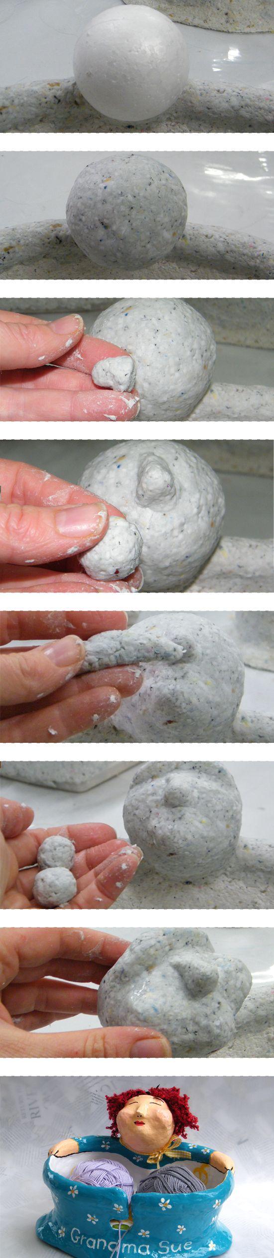 Работы из папье-маше своими руками фото