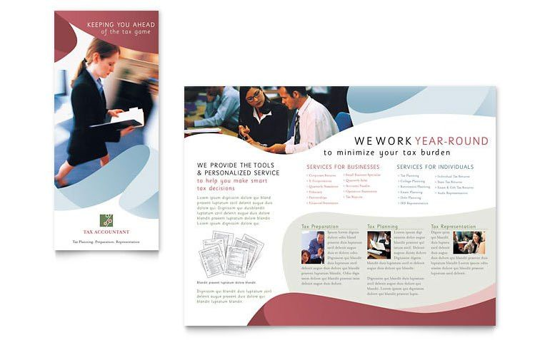 Tax Accounting Services Brochure Template - Word & Publisher