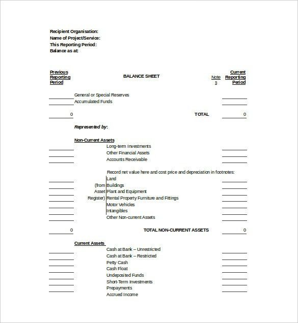 Balance Sheet Template - 11+ Free Word, Excel, PDF Documents ...