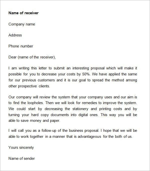 Thesis title proposal letter
