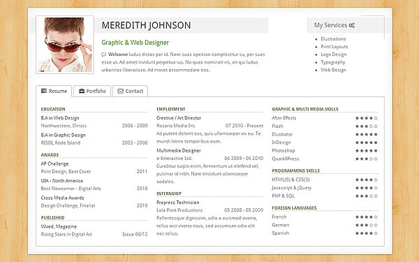 17 best images about cv resume portfolio on pinterest. portfolio ...