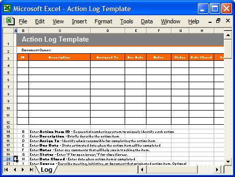 Action Plan Template (MS Word) & Free Excel spreadsheets