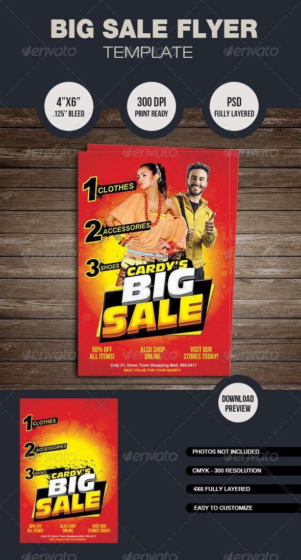 Big Sale Flyer Template by mixmedia87 | GraphicRiver