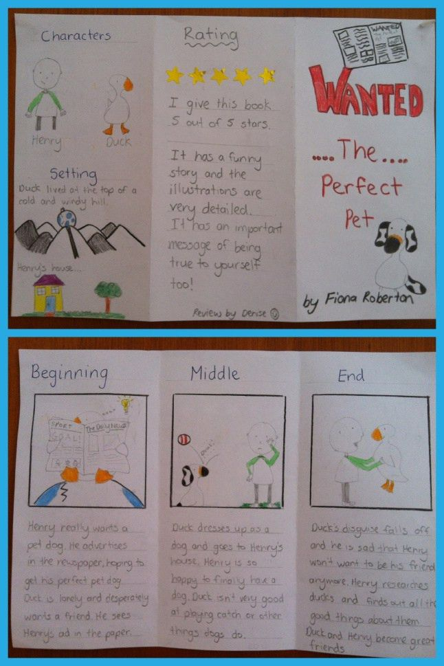 Simple Book Review Pamphlet | Books, Blog and Language arts