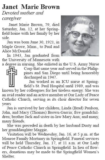 Obituary Placements Example and Instructions | ECM Publishers, Inc.