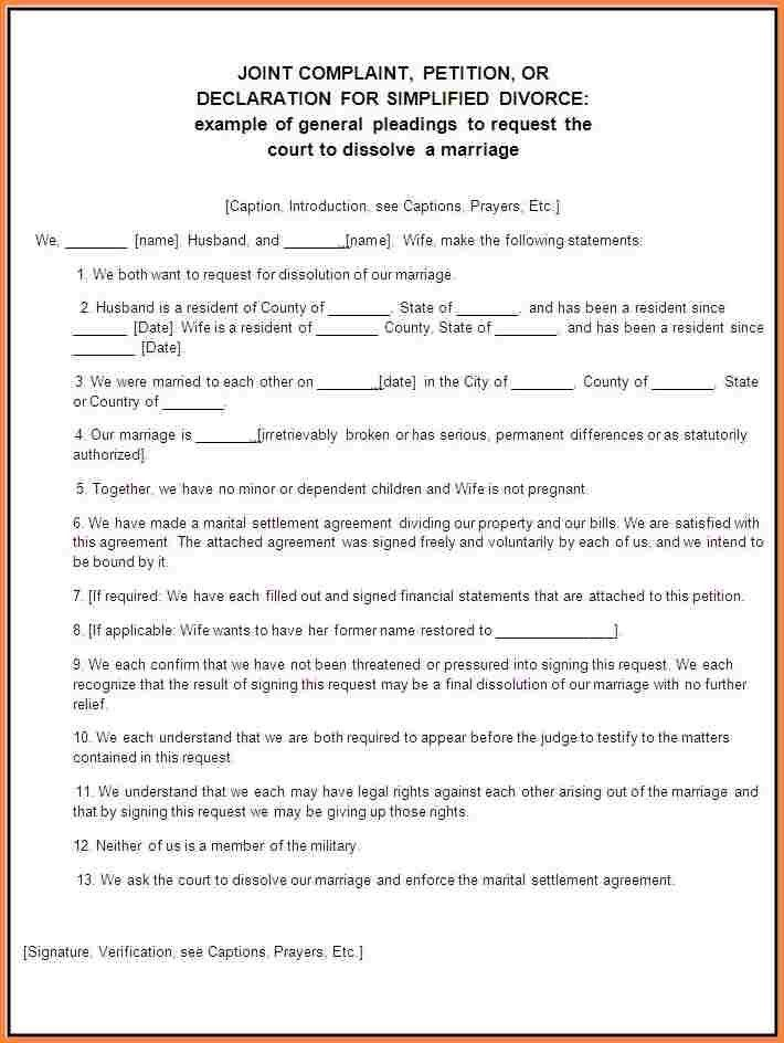 9+ Divorce Contract Template | Divorce Paper