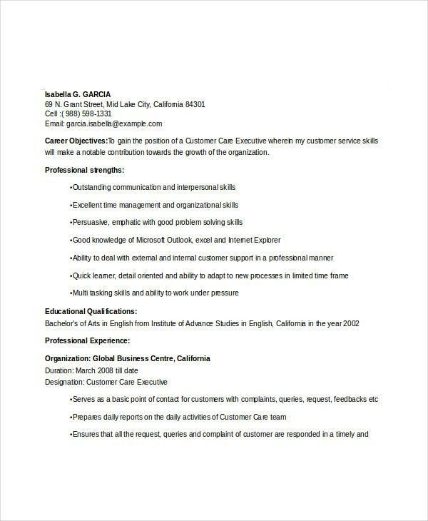 Professional Executive Resume Template - 34+ Word PDF Documents ...
