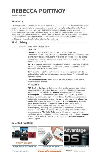 Freelance #Writer Resume Example (resumecompanion.com) | Resume ...