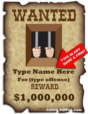 Your Own Wanted Poster