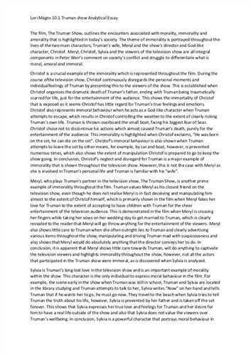 Analytical Essay | Sample Analytical Essay Example