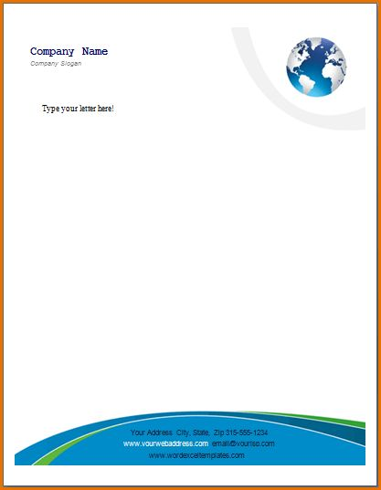 11+ business letterhead format | Job Resumes Word