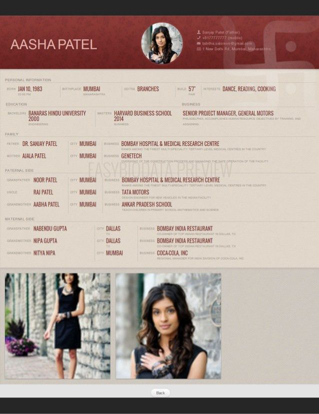 Beautiful Biodata format from slideshare! Made with www ...