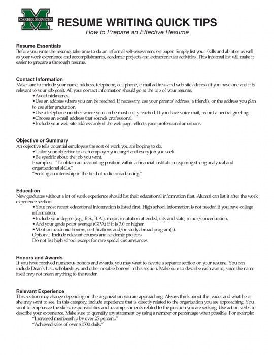 effective resumes samples resume samples for all professions and
